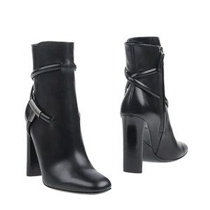 Tom Ford Cross Strap Ankle Boot Black Size 38.5
